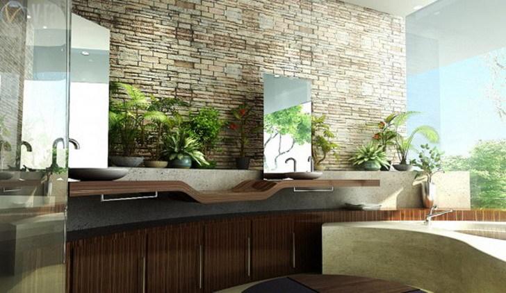 D coration japonaise pour une salle de bain zen en bois - Decoration salle de bain japonaise ...